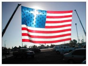 American Flag with cross image