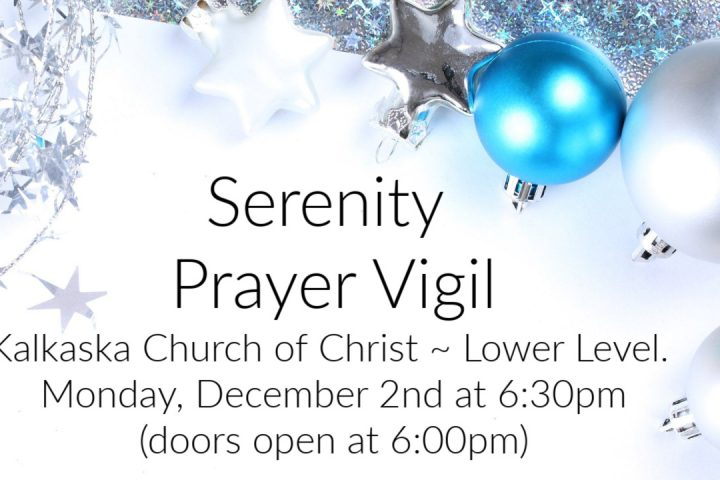 Serenity Prayer Vigil