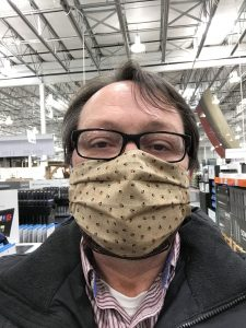 Tim wearing mask at Costco